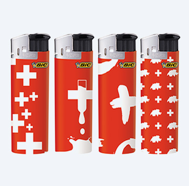 BIC ELECTRONIC LIGHTERS SWISS CROSS SERIES