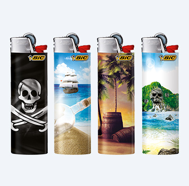 BIC MAXI LIGHTERS PIRATES SERIES