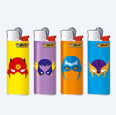 BIC MINI LIGHTERS SUPERHERO SERIES